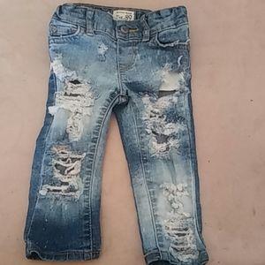 Baby Modern Stylish Torn Jeans